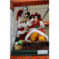 MICKEY AND MINI ANIMATRONIC XMAS DECORATION