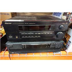 KENWOOD MULTI CD PLAYER AND PIONEER AV RECEIVER VSX-D510