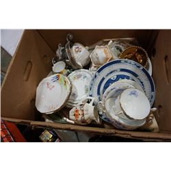 BOX LOT OF VINTAGE CHINA ADERLEY ETC