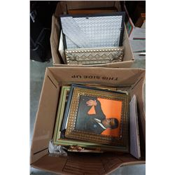 2 BOXES OF FRAMED PORTRAITS