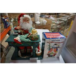 SANTA ANIMATRONIC AND TEA LIGHT HOLDER