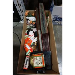 BOX OF EASTERN COLLECTIBLES
