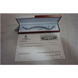STERLING SILVER GENUINE 6.72CT SAPPHIRE BRACELET W/ APPRAISAL $1350