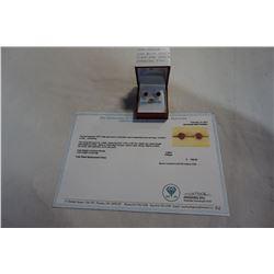10KT WHITE GOLD 6mm GENUINE 2.6CT RUBY STUD EARRINGS W/ APPRAISAL $700