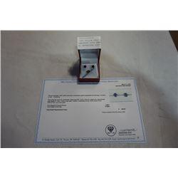 10KT YELLOW GOLD 6mm GENUINE AMETHYST STUD EARRINGS 1.5VT W/ APPRAISAL $300