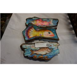 3 BARK ART FISH THEMED
