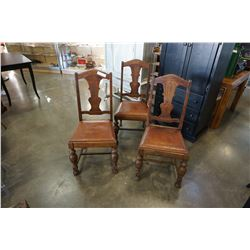 3 ANTIQUE DINING CHAIRS