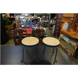 2 METAL FRAME KIDS CHAIRS