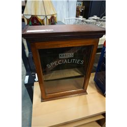 KRAUSS SPECIALTIES LOCKING DISPLAY CABINET