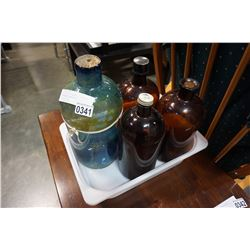 LOT OF GLASS PHARMACY BOTTLES FROM NORTH VANCOUVER
