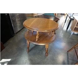 ROUND MADE IN CANADA 2 TIER END TABLE