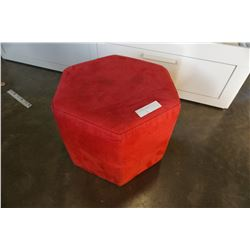 RED HEXAGON OTTOMAN