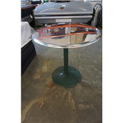 ROUND CHROME BAR TABLE
