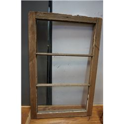 WOODEN FRAME WINDOW 3 PANEL 1 WITH GLASS
