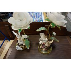 PAIR OF BRASS DECORATIVE TOUCH LAMPS