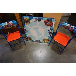 PAW PATROL FOLDING KIDS TABLE AND 2 CHAIRS
