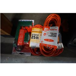 4 NEW EXTENTION CORDS