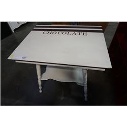 PAINTED ANTIQUE 2 TIER OCCASSIONAL TABLE