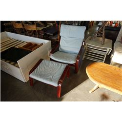 BENTWOOD CHAIR AND OTTOMAN