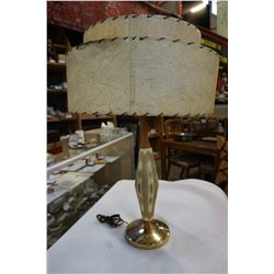 MID CENTURY TEAK AND CERAMIC ATOMIC AGE TABLE LAMP