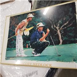 GOLF PRINT FRAMED
