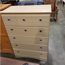 BEIGE 5 DRAWER DRESSER