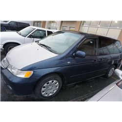 1999 HONDA ODYSSY 225,000KM AUTOMATIC 3RD ROW SEATING W/ POWER OPTIONS - 2 KEYS AND 2 FOBS, CAR PROO
