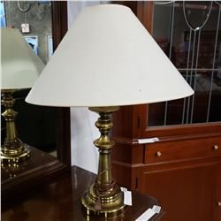 MODERN BRUSHED METAL TABLE LAMP AND BRASS TABLE LAMP
