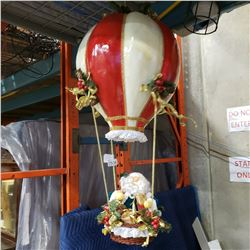 HOT AIR BALOON SANTA DECORATION