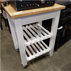 BUTCHERS BLOCK KITCHEN CART