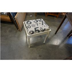 PAINTED DECORATIVE STOOL