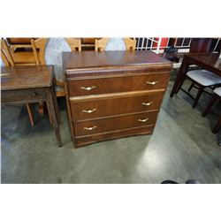 ANTIQUE WATERFALL DRESSER WITH 3 DRAWERS