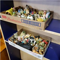 2 TRAYS OF VARIOUS FIGURES