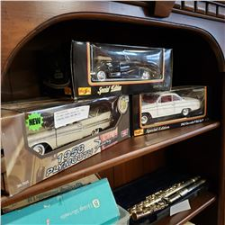 DIE CAST CHEVY BELAIR 62, 1958 PLYMOUTH FURY, AND BMW 502