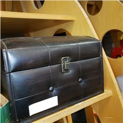 SMALL LEATHER TRUNK