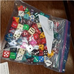 BAG OF DUNGEONS AND DRAGON TYPE DICE