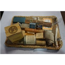 TRAY OF ANTIQUE MEDICAL ITEMS FROM NORTH VANCOUVER
