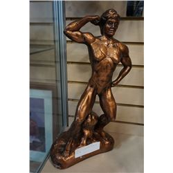 FEMALE BODY BUILDING STATUE BY DON LEN
