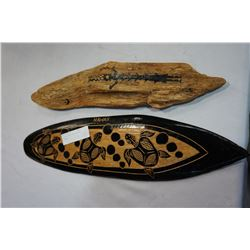 HAND-PAINTED HAND-CARVED PLAQUES