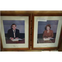 2 SIGNED QUEEN ELIZABETH AND PRINCE PHILLIP 1951 PICTURES