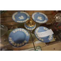 5PCS OF WEDGEWOOD PLATES, ASHTRAY, AND LIGHTER