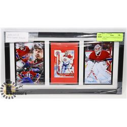 CAREY PRICE AUTOGRAPH DISPLAY FRAMED.