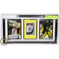 MARC-ANDRE FLEURY AUTOGRAPH DISPLAY FRAMED.