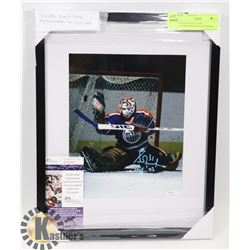 FRAMED GRANT FUHR AUTOGRAPHED PHOTO WITH JSA