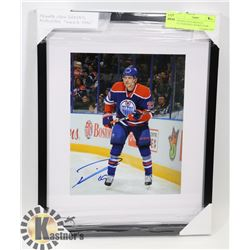 "FRAMED LEON DRAISAITL AUTOGRAPHED ""ROOKIE YEAR"","
