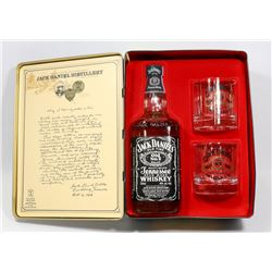 JACK DANIELS GIFT BOX INCL COLLECTORS TIN, 750ML