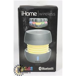 IHOME COLOUR CHANGING PORT. BLUETOOTH SPEAKER