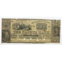 1849 $2 NASHUA BANK