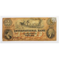 1860 42 INTERNATIONAL BANK PORTLAND, MAINE