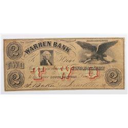 1859 $2 WARREN BANK